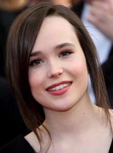 """La actriz Ellen Page aprovechó en una rueda de prensa para salir de la """"despensa""""."""